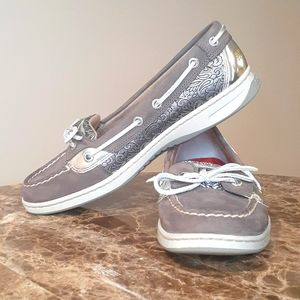Sperry Angelfish Silver Paisley